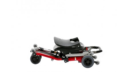 Red Standard Travel Scooter in Skakeboard Fold