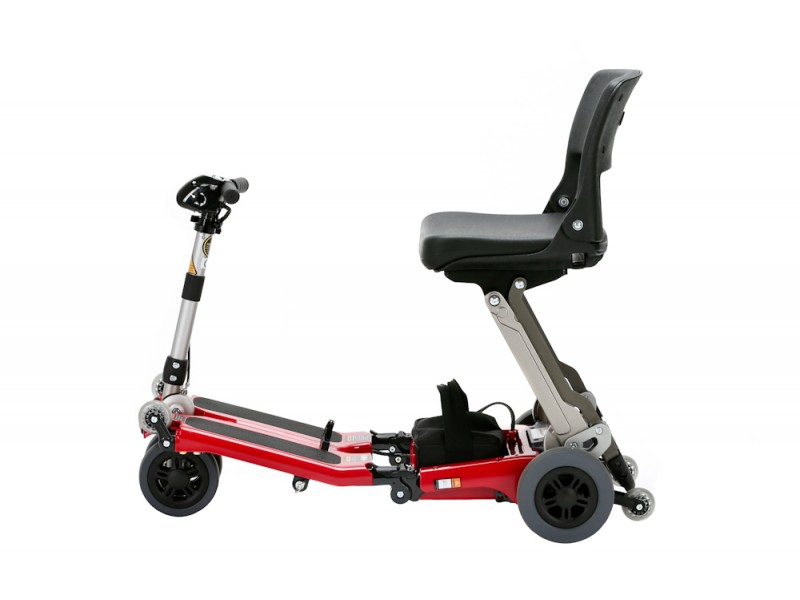 Eco Luggie Travel Scooter Tiller lowered