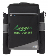 Luggie backpack with stick holders
