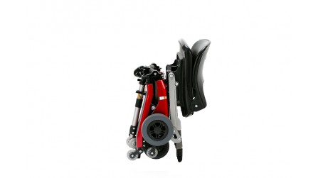 Red Standard Folding Scooter in Suitcase Fold
